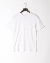 オフホワイト●レギュラーフィット 胸ポケットTシャツ○GDW-LCS-201101