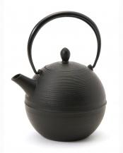 日の丸 鉄瓶 黒(茶こし付)○10071