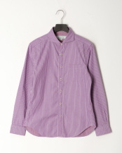 紫系柄物●リバーシブルストライプ○0-0804-1-51-007