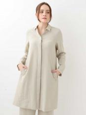 オフホワイト デザインシャツワンピース GIANNI LO GIUDICE○NGEEJ12430