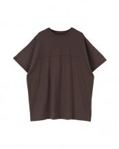 チャコール●バックプリントオーバーサイズTシャツ○AXJN0385