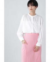 ホワイト●バンドカラーシャツ R/B(バイイング)○6010211013