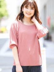ピンク●【洗える】キュウシン風プリーツニット a.v.v○K2FGJ31044