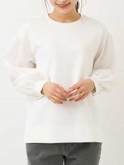 ホワイト●ダンボールシャツスリーブトップス a.v.v○K2KEM21039