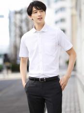 ホワイト●【吸水速乾】シルケットカノコシャツ a.v.v HOMME○KWBGJ03049