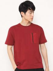 ブラウン●ZIPポケットTシャツ a.v.v HOMME○KHKGG76034