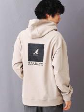 ベージュ●【男女兼用】KANGOLコラボコットンウラケパーカー a.v.v HOMME○KHKCM46059