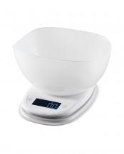 ホワイト●「キッチンスケール」 ボウル付/最大2kg/最小0.1g表示○HCS-KS02
