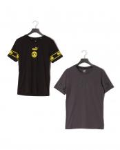 PUMA BLACK-CY/ASPHALT-CYBER●BVB FTBLCULTURE SS Tシャツ 2色SET○758107/758107