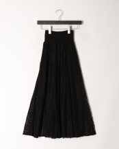 ブラック●レース&チュールロングスカート○001953