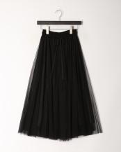 ブラック●チュール&レースボリュームスカート○001954