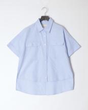 サックス●OXワイドシャツ○11181004
