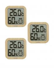 ナチュラルウッド●デジタル温湿度計ナチュラルウッド3個セット○O-271NW/O-271NW/O-271NW