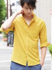 イエロー●シャツ(ワルツビンテージ) MK MICHEL KLEIN homme○MKBGI91120
