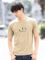 ベージュ●カットソー/刺繍Tシャツ MK MICHEL KLEIN homme○MKKHL44045