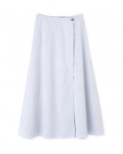 ブルー 《LE PHIL》ストレッチコットンラップフレアースカート le PHIL○5340120103