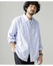 サックス5●起毛ワイドボタンダウンシャツ ナノ・ユニバースメンズ(オリジナル)○6680120009