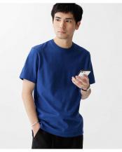 ブルー●フォーパネルクルーネックTシャツ ナノ・ユニバースメンズ(オリジナル)○6680124044