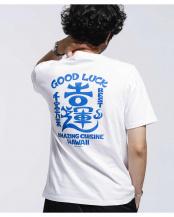 ホワイト●カッズ三井田 GOOD LUCK Tシャツ ナノ・ユニバースメンズ(オリジナル)○6680124053