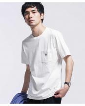 ホワイト●WWF PANDA EMB Tシャツ 半袖 ナノ・ユニバースメンズ(オリジナル)○6680124062