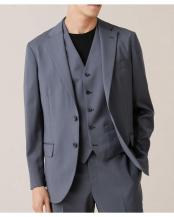グレー●イタリア生地ソリッドジャケット RG(セットアップ対応) ナノ・ユニバースメンズ(オリジナル)○6689217014