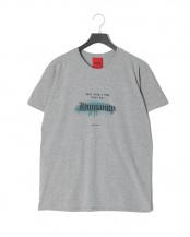 グレー●HUMANITYプリント<br>半袖Tシャツ○T-SHIRT HUMANITY
