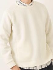 アイボリー●【ユニセックス】ライトダンボールスリットファスナープルオーバー[WEB限定サイズ] a.v.v HOMME○KHKEM13039