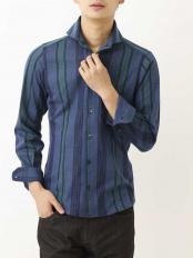 ネイビー(57)●シャツ(ラッセルリバーチェック) MICHEL KLEIN HOMME○MNBJJ13180