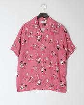 ピンク●アロハシャツ○AR19SH04