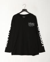 ブラック● 天竺クルーネック長袖T-Shirt○92251502