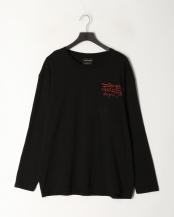 ブラック●天竺クルーネック長袖T-Shirt○92251504