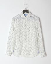 白系柄物●リネンカッタウェイ L/S○0-0086-2-51-020