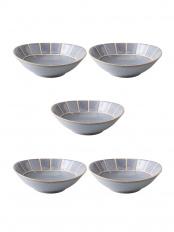 淡-tang- 楕円小鉢 灰 5個セット○4965451306681