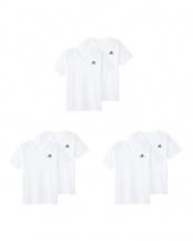 ホワイト●VネックTシャツ2P×3点SET○APB2152/APB2152/APB2152