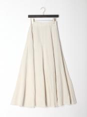 WHITE●Linen Flare Skirt WHITE FREE○92010502