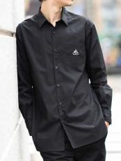 ブラック●KANGOL/カンゴール  ロングシャツ a.v.v HOMME○KHBJJ10059