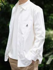 ホワイト●KANGOL/カンゴール ワイドシルエットシャツ a.v.v HOMME○KHBJJ16049