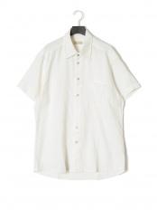 ホワイト●AX リネンメンズシャツ○AX linenshirt_men's_M_WH