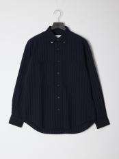 紺系柄物●シャツ○0-0086-1-51-005
