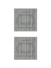 [スクエア] スクエアプレート スモーク 21cm(2枚入)○101450