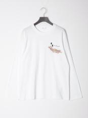 01/white●Embroidery logo L/S○TV02-JK337
