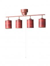 ブラウン●4灯シーリングライト 木調ブラウン+木調シェード付き○20059