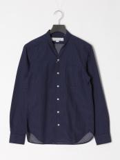 紺系柄物●シャツ○0-0804-1-51-051