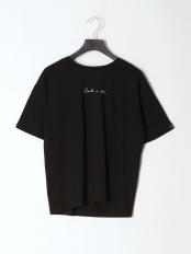 ブラック●ハンドライティングTシャツ○980-15536