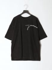 ブラック●ヴィンテージライクプリントTシャツ○982-15535