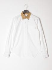ホワイト●カジュアルシャツ(長袖)○56852