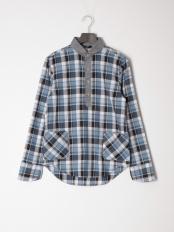 ブルー●カジュアルシャツ(長袖)○56853