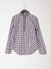 ネイビー●カジュアルシャツ(長袖)○56853