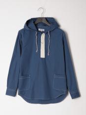 ブルー●カジュアルシャツ(長袖)○56858