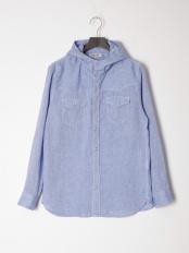 ブルー●カジュアルシャツ(長袖)○56860